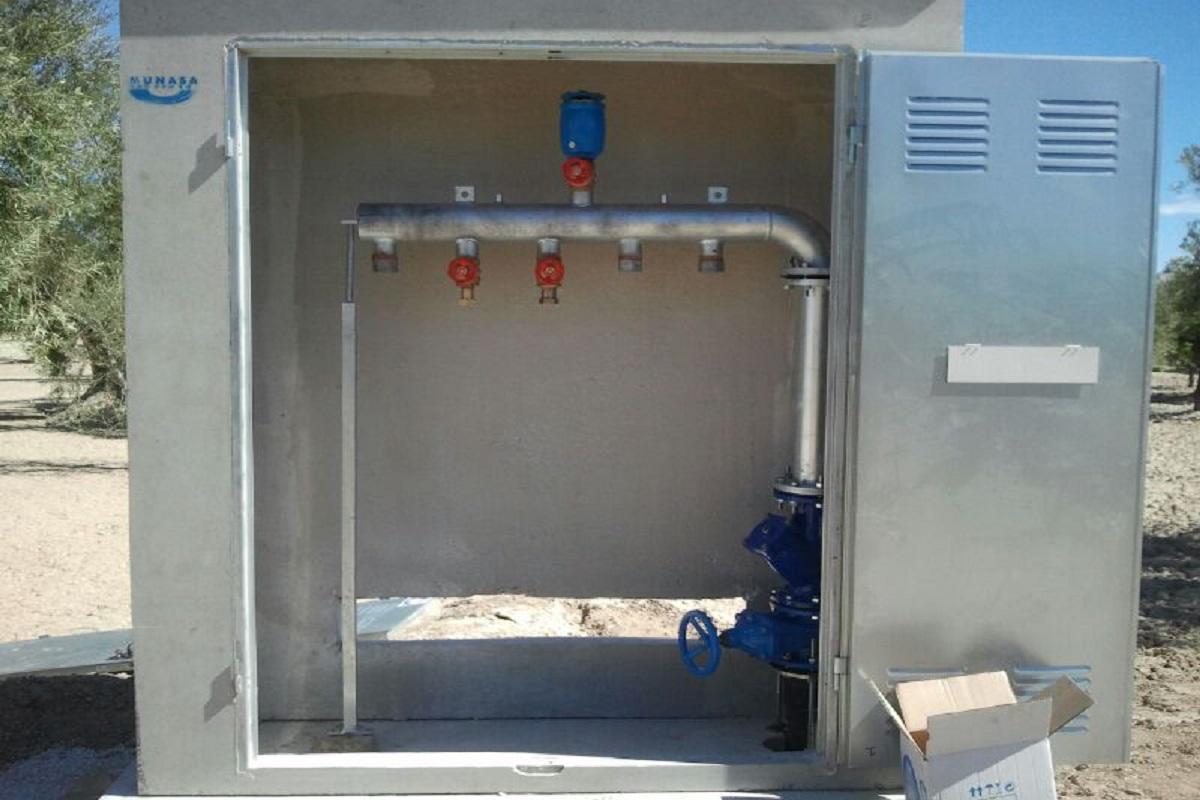 Caseta Riego colectores hidrantes