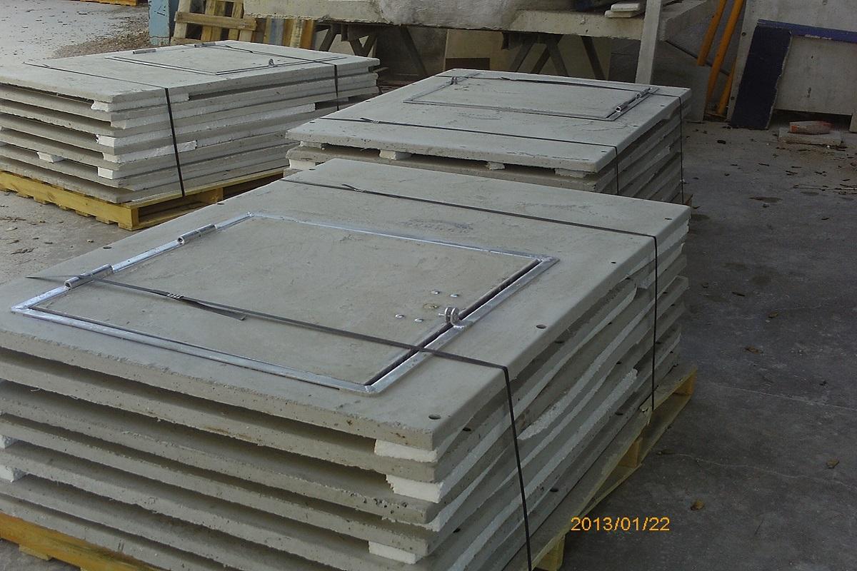 Caseta hormigón 650 desmontable colector