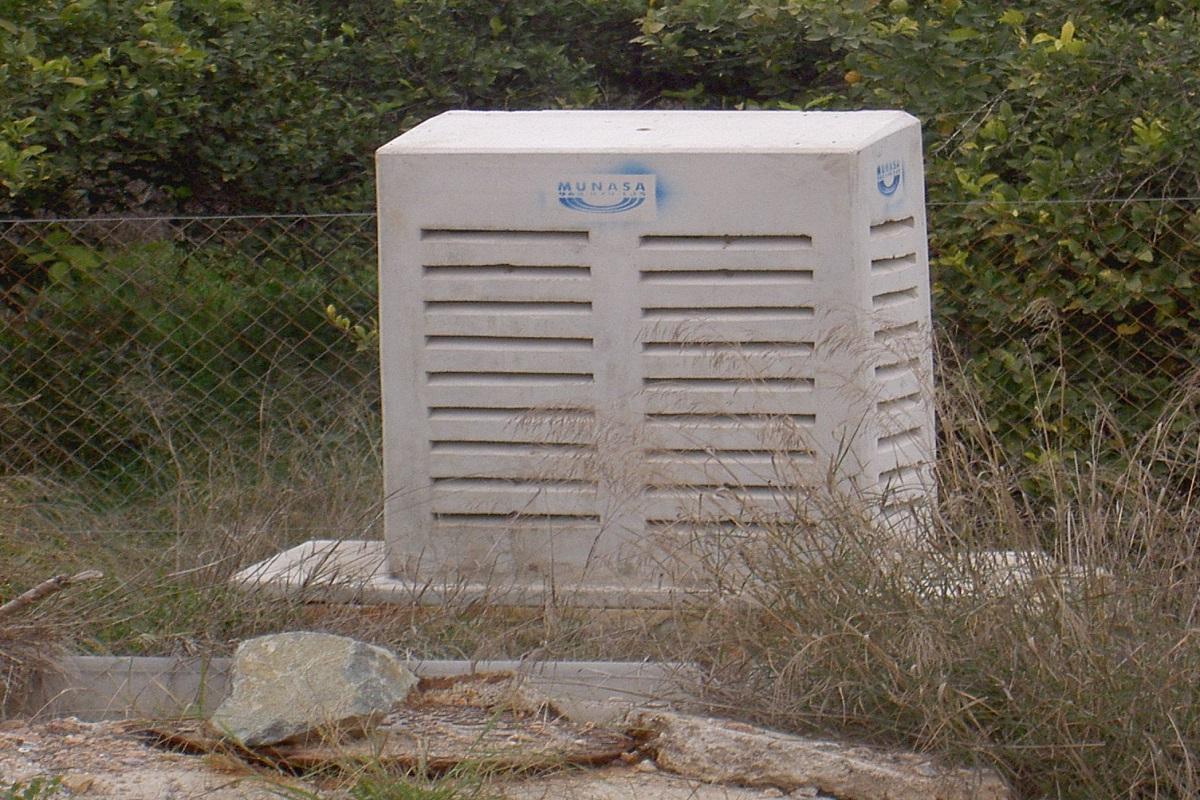 Saneamiento Murcia, caseta ventilación